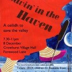 Poster for Ravin in the Haven a community building ceilidh for Combe Haven